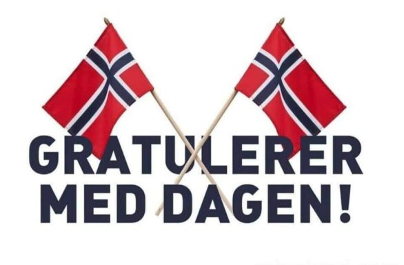 Gratulerer flagg